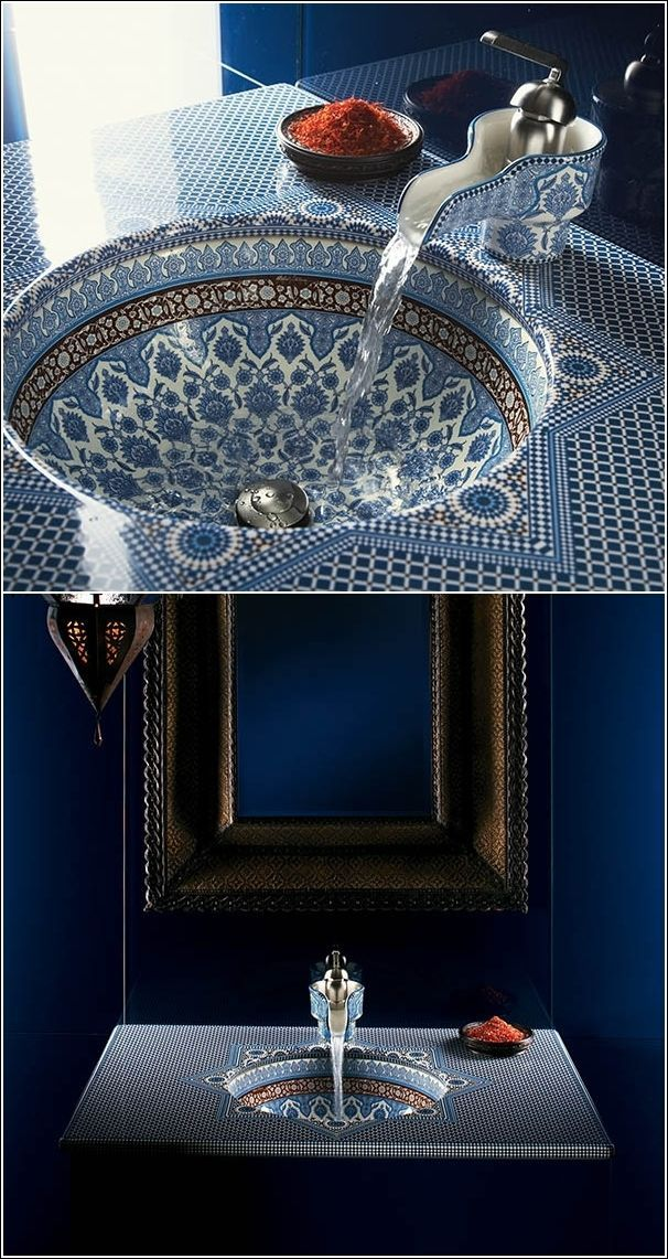 15 Amazing Sink Designs for Your Bathroom and Kitchen | Moroccan Bathroom Inspiration | Moroc…