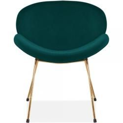 Shelton Accent Stuhl, Samt Polsterung, Petrol Cult FurnitureCult Furniture