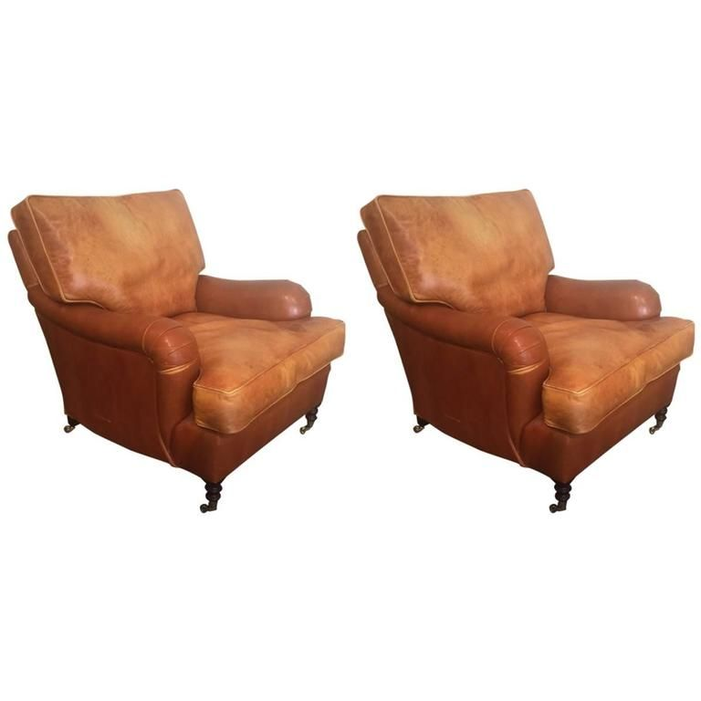Distressed Leather Club Chair   Stuhlede.com