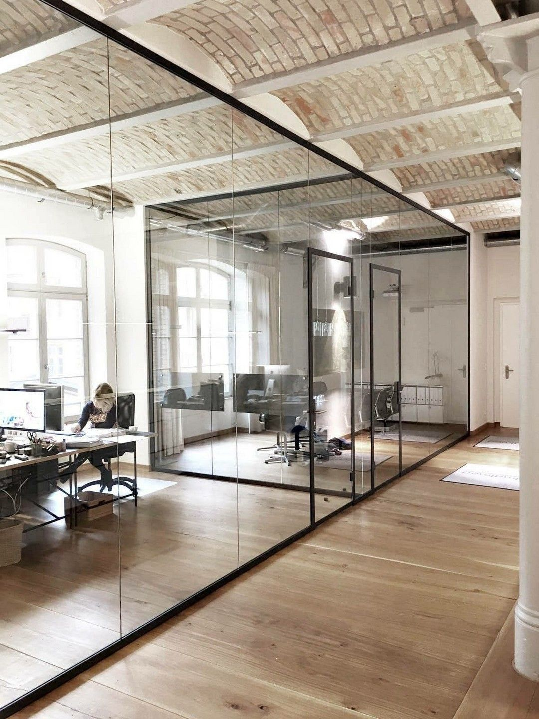 64 Modern Industrial Farmhouse Office Decorated Completely On The Cheap