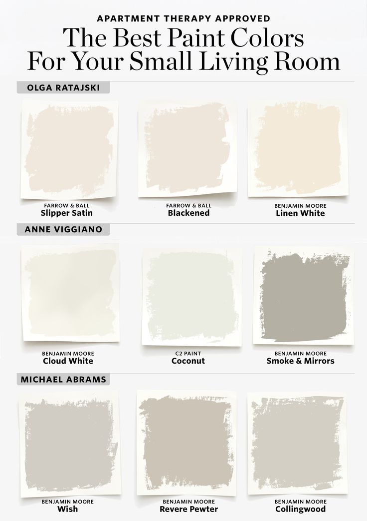 9 Paint Colors to Try If You Have a Small Living Room