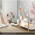 A set of furniture for the design of a baby room in Scandinavian style. Furnitur...
