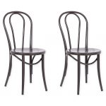 Acessentials Ellie Bistro Chair In Brown (Set Of 2)