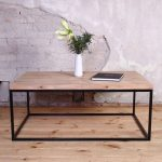 Agase Industrie Metall Couchtisch aus Holz Altholz Retro Vintage schäbiges Chic - Wood Design