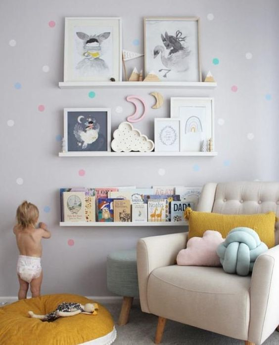 Baumschul-Kindergarten-Kindergarten-Kinder, Baby-Wanddekal, Kids Wall Decal, Nursery Wall Decal, Confetti Wall Dots, Girl Wall Decal Kids Pastell décor