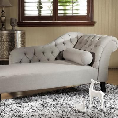 Baxton Studio Aphrodite Traditional Gray Fabric Upholstered Chaise 28862-4364-HD – The Home Depot