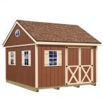 Best Barns Mansfield 12 ft. x 12 ft. Wood Storage Shed Kit with Floor Including 4 x 4 Runners-mansfield_1212df - The Home Depot