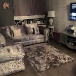 CORNER - £899 CHESTERFIELD CRUSHED VELVET 6 SEAT CORNER IN GREY TRADITIONAL BUT...