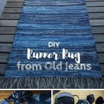 Check out the tutorial on how to make a DIY runner rug from ... #ei ... - Pin İmages