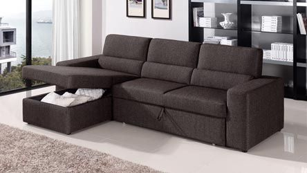 Clubber Sleeper Sectional – Black/Brown