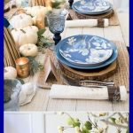 Create A No-Fuss Gorgeous Casual Blue And White Thanksgiving Table # erstellen s...