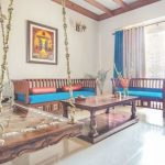 Living Room Decor Indian  Indische Wohnkultur Traditionelle 3BHK Mit Pops of Col...