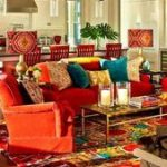 Living room red couch house 60 Ideas