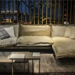 Modern Leather Italian Sofa with Built-in Zipper