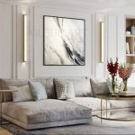 Original painting on canvas, abstract painting on canvas, home interior, interior design and decor, marble imitation,large original painting