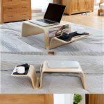 The Bamboo Wooden Laptop Notebook  Apple MacBook Mobile Lap Desk for Bed and Cou...