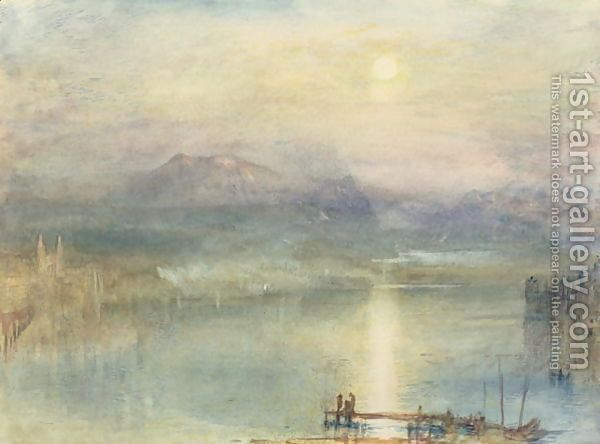 The Lake of Lucerne, Moonlight, the Rigi in the Distance, c.1841 Painting by… | 1st Art Gallery