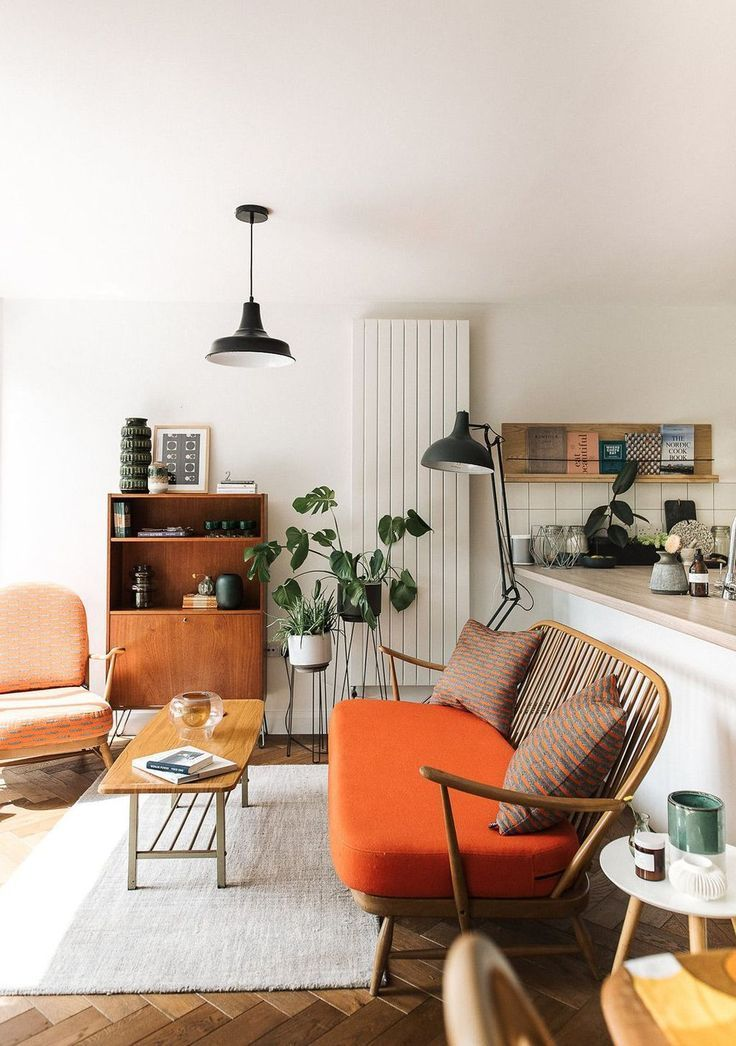 These Orange Dining Chairs Will Convince You to Go Mid-Century