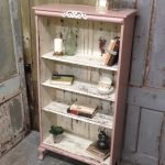 This is a vintage, bookshelf with cute small cabriole legs. Shabby Chic, cottage...