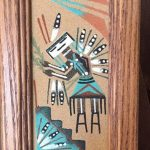 Vintage  Navajo Sand Painting Whirling Yeis / Southwest Home Decor