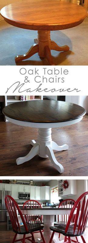 #makeover #table #chair #oak #diy #andOak Table Makeover DIY Eichentisch und Stuhl … –  #an…