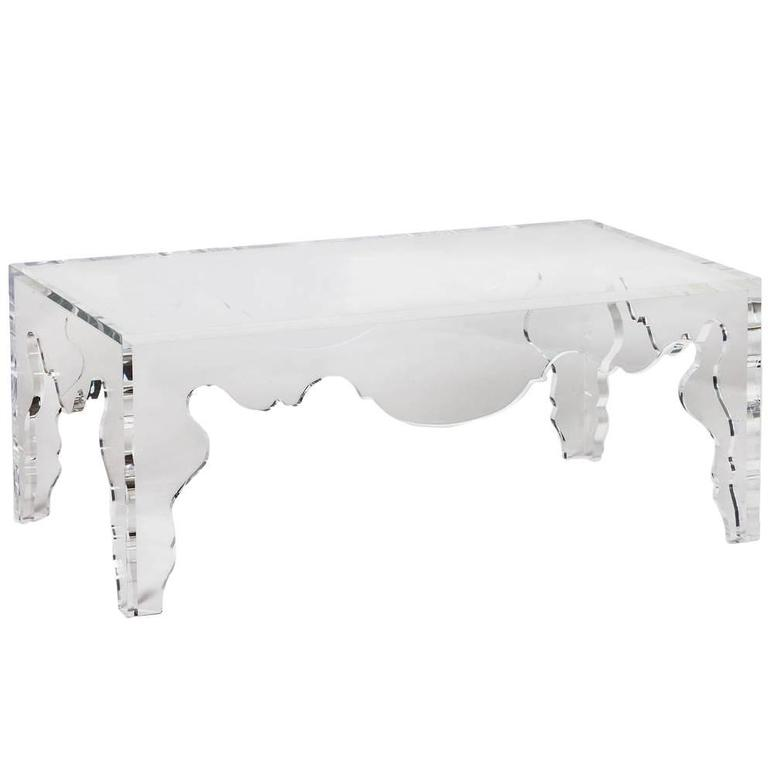 Coffee Table in Acrylic Rococo – Tara Shaw Design, Antiques, & Custom Maison