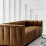 Forte Channeled Saddle Leather Extra Large Sofa + Reviews   CB2