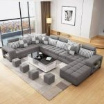 Harmony Reversible Sectional Sofa with Ottoman