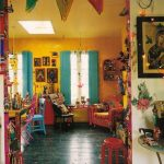 Home Decorating Ideas Bohemian yellow wall colorful furniture | The perfect Mexican decoration