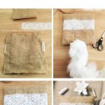 Jute ring pillow with lace - very easy to make very fast. D ...... - My Idea Blog