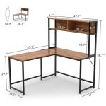 Lavin L-Shaped Desk with Hutch