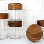 Merchant no. 4 - Wood Glass Canisters - All