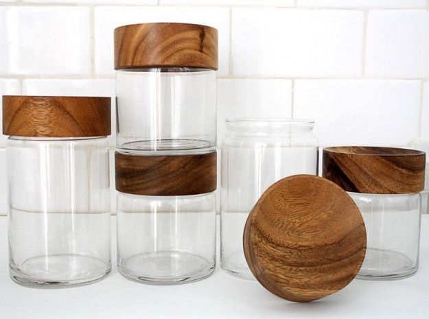 Merchant no. 4 – Wood Glass Canisters – All