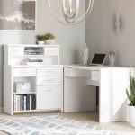 Oakridge L-Shape Executive Desk with Hutch