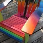 Regenbogen gemalter adirondack Stuhl   - Awesome Ideas - #adirondack #Awesome #G...