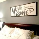 You & Me Wood Sign, Bedroom Wall Decor, Modern Farmhouse Anniversary Gift, Above the Bed Sign, Master Bedroom Decor
