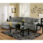Zella - Charcoal Sectional Living Room Set