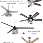 10 Affordable + Stylish Indoor Ceiling Fans With Lights | Kate Decorates