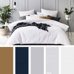 10 Best Color Schemes for Your Bedroom { Navy Blue and Grey + Hint of Gold }, gr...
