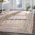 Hand Braided Bohemian Colorful Cotton Chindi Area Rug multi colors Home Decor Rugs cotton area rugs Rug Rag Area Rug Braided Rugs