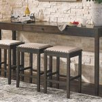Rokane Counter Height Dining Room Table and Bar Stools (Set of 4)
