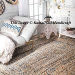 Hand Braided Bohemian Colorful Cotton Chindi Area Rug multi colors Home Decor Rugs cotton area rugs 3x4 Feet Area Rug Home Decor Rug Rag