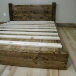 Platform Bed, Simple Platform Bed, Bedroom Furniture, Platform Bed Frame, Queen Platform Bed, Queen Headboard, Rustic Home Decor, King Size
