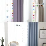 Pom Pom Blackout Curtains in 5 Colors, Kids Blackout Curtains, Nursery Blackout Curtains, Curtains Nursery, Bedroom Curtains, Tassel Curtain