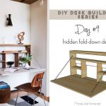 DIY Desk Series #9 - Fold-down Wall Desk