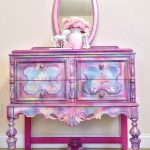 Sold!!!    Girls pink dresser lavender color pink chest of drawer little girls vanity