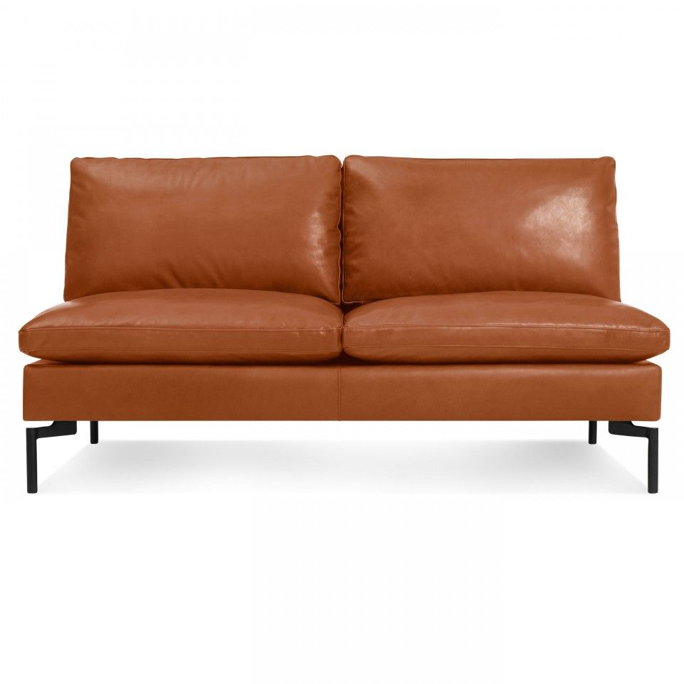 New Standard 60″ Armless Leather Sofa