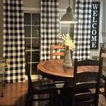 Black and White Buffalo Check Curtains - Rod Pocket - Options for Cotton and Blackout Lining