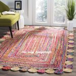 Indian Hand Braided Bohemian Colorful Cotton Chindi Area Rug multi colors Home Decor Rugs cotton Area Rug Feet Braided Rug Rag Home Decor