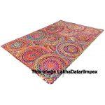 Hand Braided Bohemian Colorful Cotton Chindi Area Rug multi colors Home Decor Rugs cotton area rugs 5x8' Feet Rug Rag Area Rug Braided Rugs